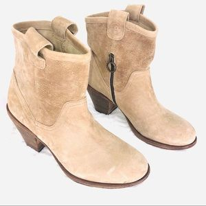 Fiorentini + Baker Sueded Leather Camel Color Boot